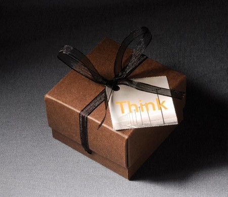 Little Square Box With Ribbon For Chocolates Selfpackaging