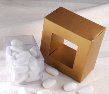 Caja transparente para caramelos