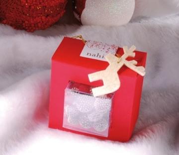 Cajita transparente para Navidad