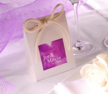 Bolsa de cartón para detalles de boda
