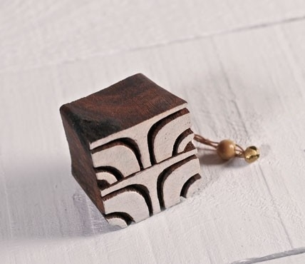 Geometric woodblock stamp 1