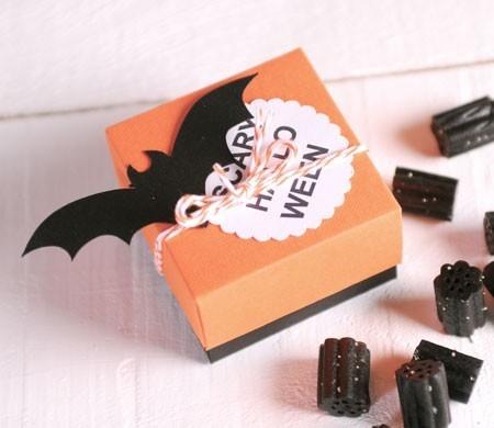 Cajita para caramelos de Halloween