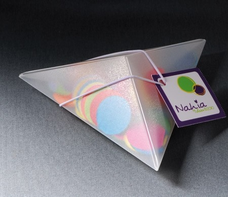 Cajita triangular para fiestas infantiles