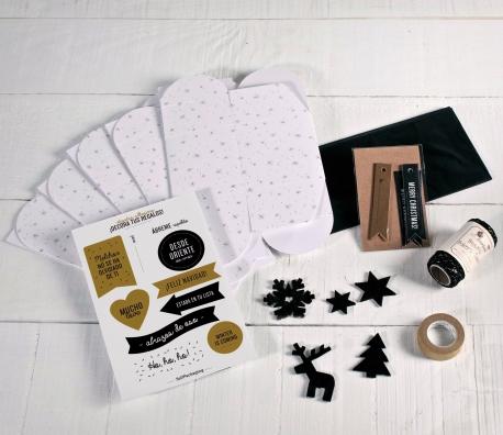 Kit de cajas regalo para Navidad