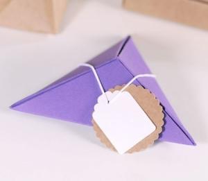 Scatola regalo piramidale
