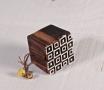 Sello de madera geométrico cuadrados