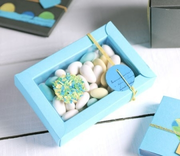 Blue gift box for baptism presents