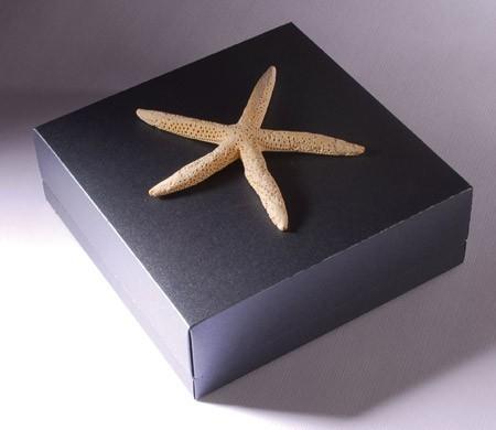 Caja cuadrada de cartón para regalo