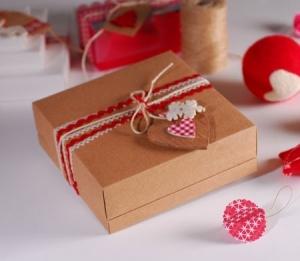 Caja bonita para regalo de Navidad