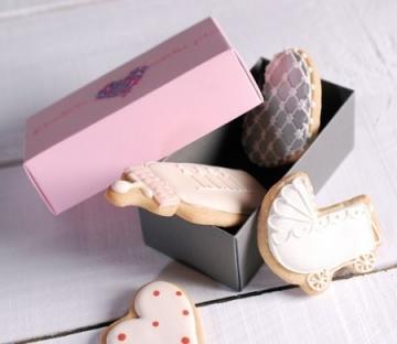 Cajita para galletas de boda