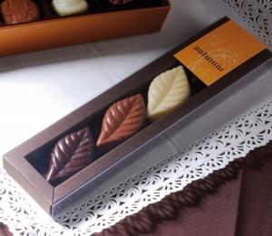 Transparent box for chocolates