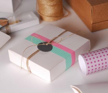 Square white gift box