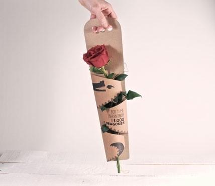 Caja para regalar una rosa