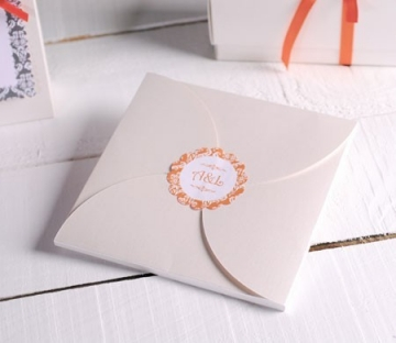 Handcrafted wedding invitation