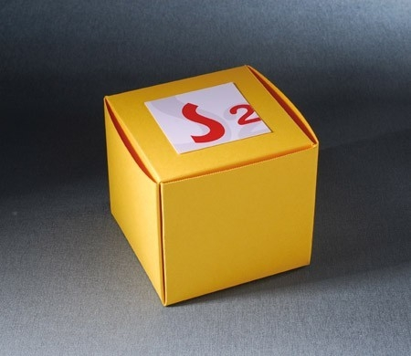 Square box for company gifts