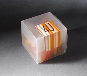 Cajita semitransparente para eventos