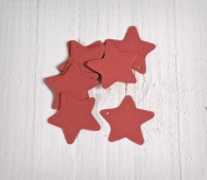 Kit 10 red carboard stars