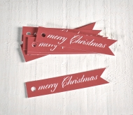Kit of flag tags Merry Christmas