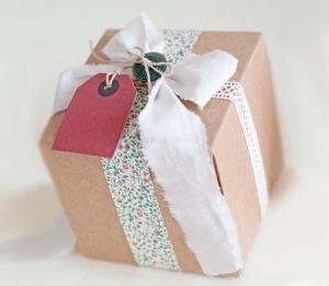 Cajita cuadrada para regalo