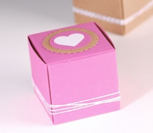 Little box with heart and labels