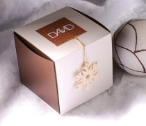 Square gift box with sleeve