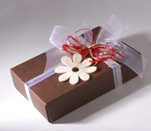Small box to give as a baby shower favour