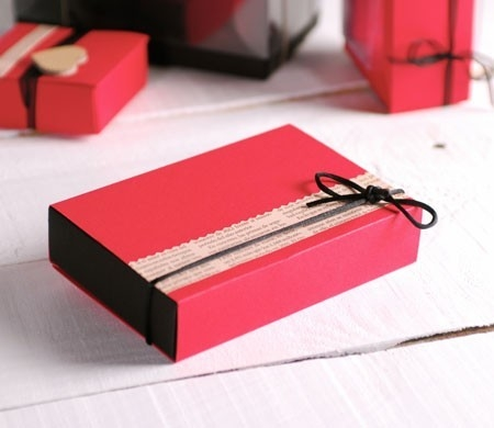Cardboard gift box for sweets