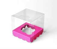 Transparent cupcake box