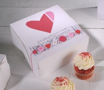 Cupcake-Box mit Herz