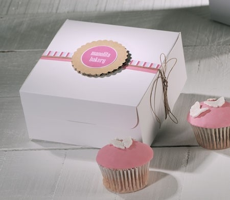 Decorated Box For Four Cupcakes SelfPackaging Inspiration Decorative Cupcake Boxes