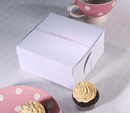 Logo auf Cupcake-Box drucken
