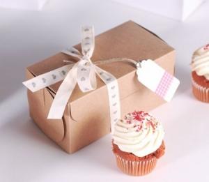 Scatolina rettangolare per due cupcake