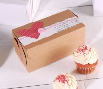 Simple cupcake box with lid
