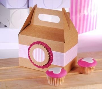 Scatola tipo pic-nic per cupcake