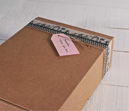 Graziose scatole per spedizioni