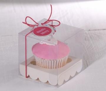 Scatola per una cupcake per battesimi