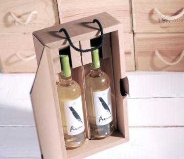 Scatola decorata per due bottiglie