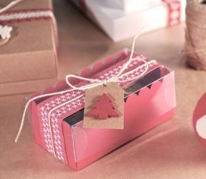 Cajita para dos cupcakes navideños