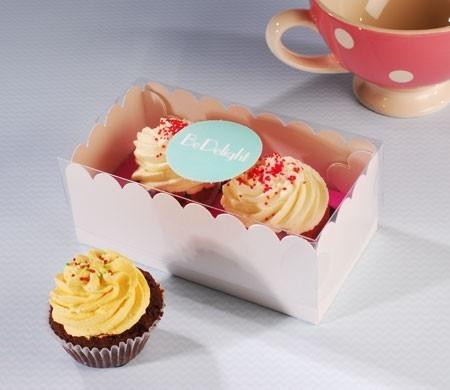 Caja para dos cupcakes corporativa