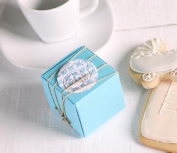 Cajita mini turquesa para regalo