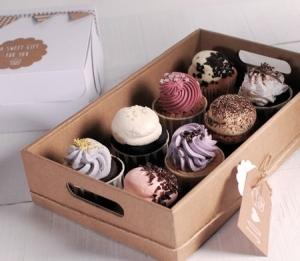 Vassoio in cartone per cupcake