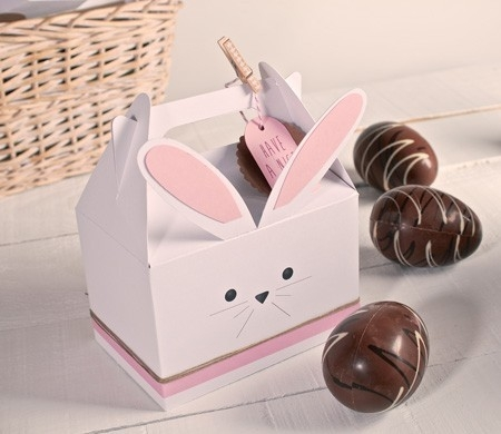 Schachtel zum Gestalten eines Hasen aus Karton