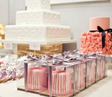 Caja de un cupcake para bodas