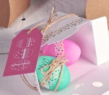 Scatola per uova di Pasqua decorate