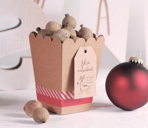 Originale scatola regalo natalizia