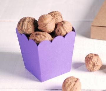 Purple box for popcorn
