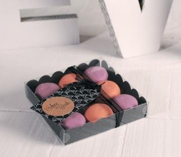 Cajita negra para macarons