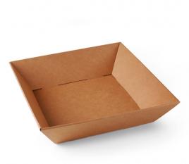 Bandeja de cartón cuadrada