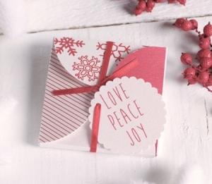 Scatola natalizia con fiocco per CD o inviti
