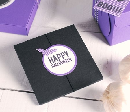 Gift box for Halloween party invitation